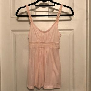 Pale Pink Detailed Beaded Babydoll Tank